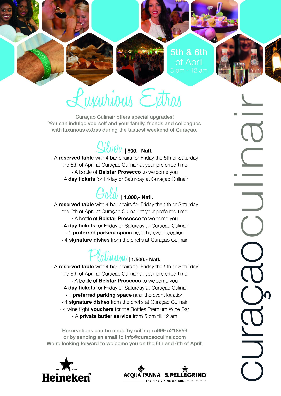 Luxurious Extras Curacao Culinair